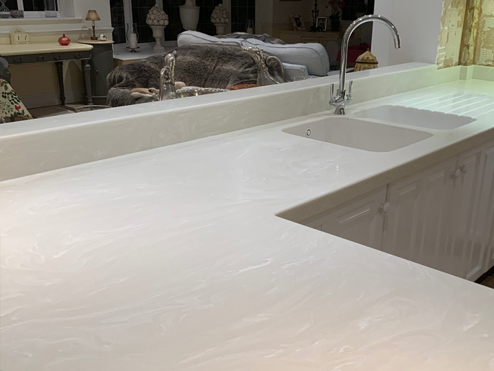 Corian kitchen worktop -1