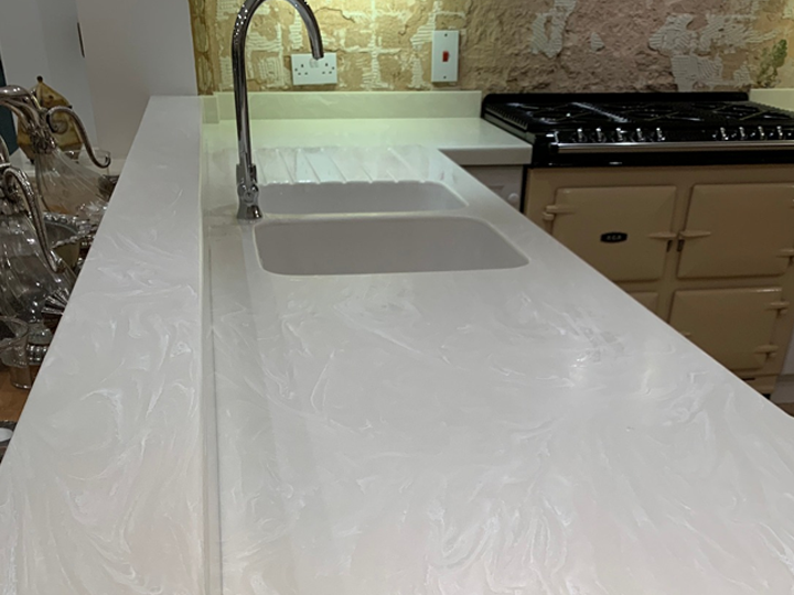 Corian kitchen worktop -4