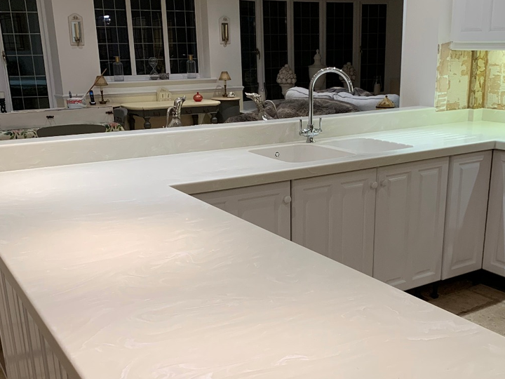 Corian kitchen worktop -5