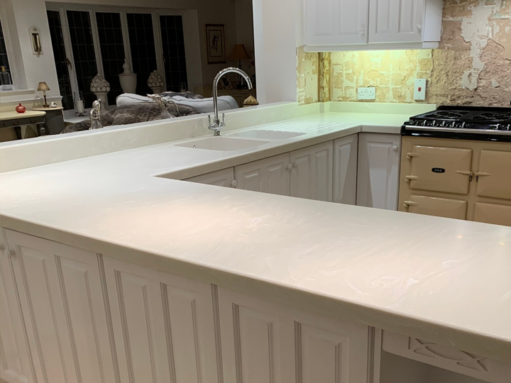 Corian kitchen worktop -6