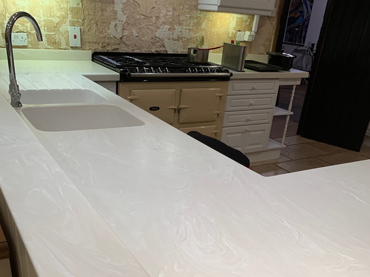 Corian kitchen worktop -7